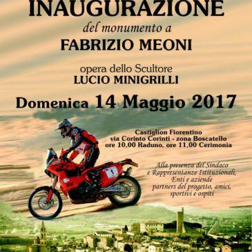Gio Sala all'inaugurazione del monumento dedicato a Fabrizio meoni